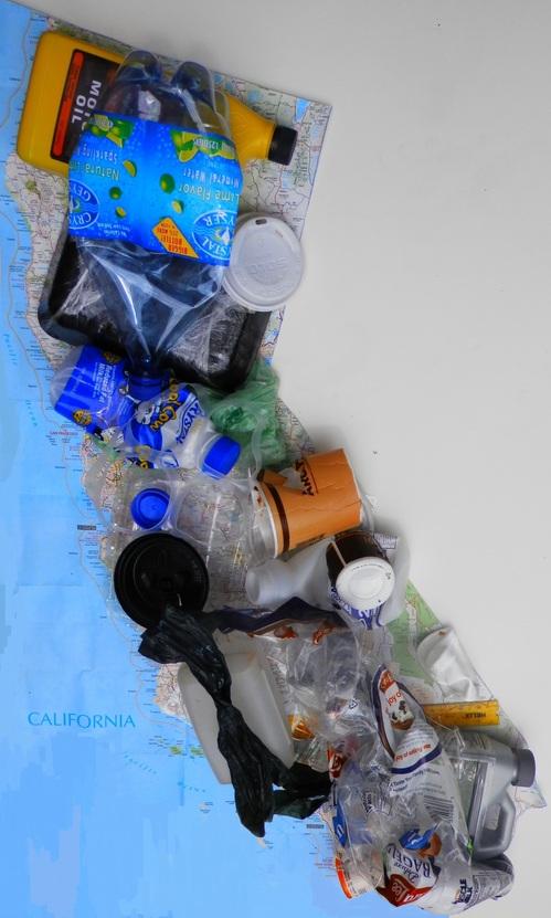 Arte e foto por Kathryn Hannay: Mapa de Lixo da Califórnia