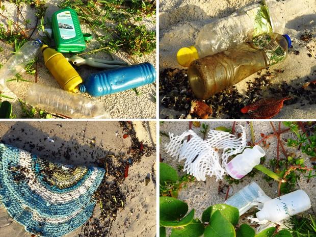 Mergulhadora fotografa lixo doméstico encontrado na Praia do Francês (Foto: Flavia Dabbur/Arquivo pessoal)