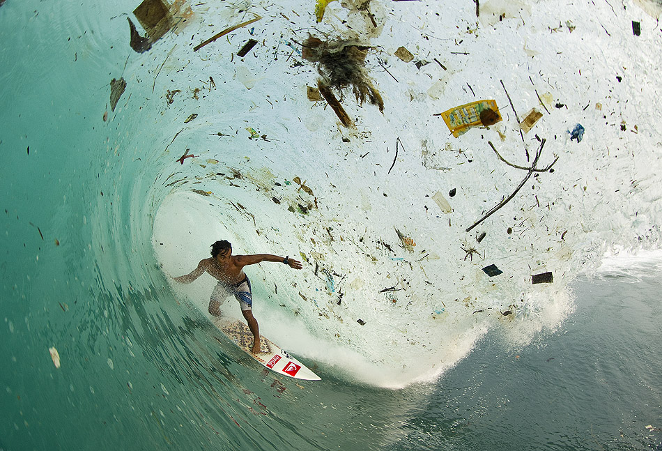 Local Indonesian ripper, Dede Suryana, dodging a hefty lip and the unfortunate byproduct of human beings. Photo: Noyle