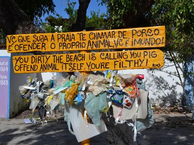 Projeto foi organizado por ambientalistas durante a edição 2013 do festival (Foto: Jocaff Souza/G1)